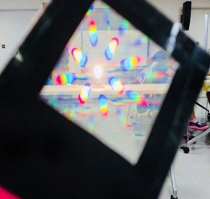「光の色のふしぎ!カラーアナライザー」写真